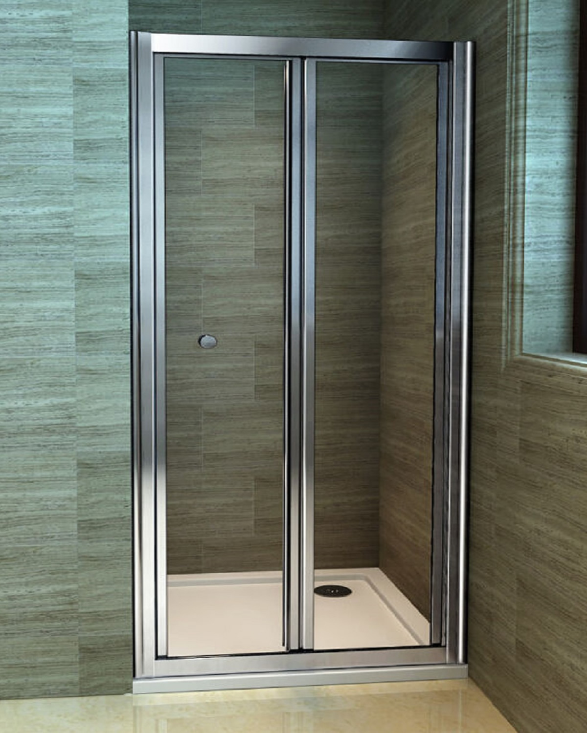 2 760 Bi Fold Shower Door Bathroom On A Budget