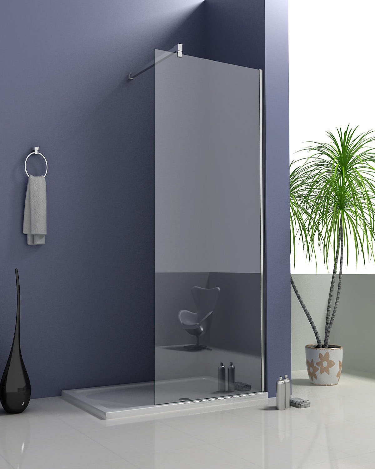 2 8mm 760 Walk In Glass Panel Bathroom On A Budget